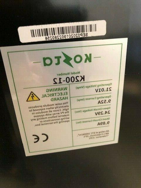 200 12 Volt Battery Mono-crystalline