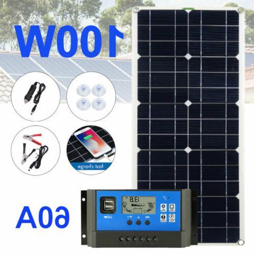 200w 100w solar panel kit for 12v