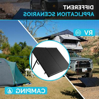 Renogy 200W Mono Folding Solar Suitcase RV Off Battery Charger