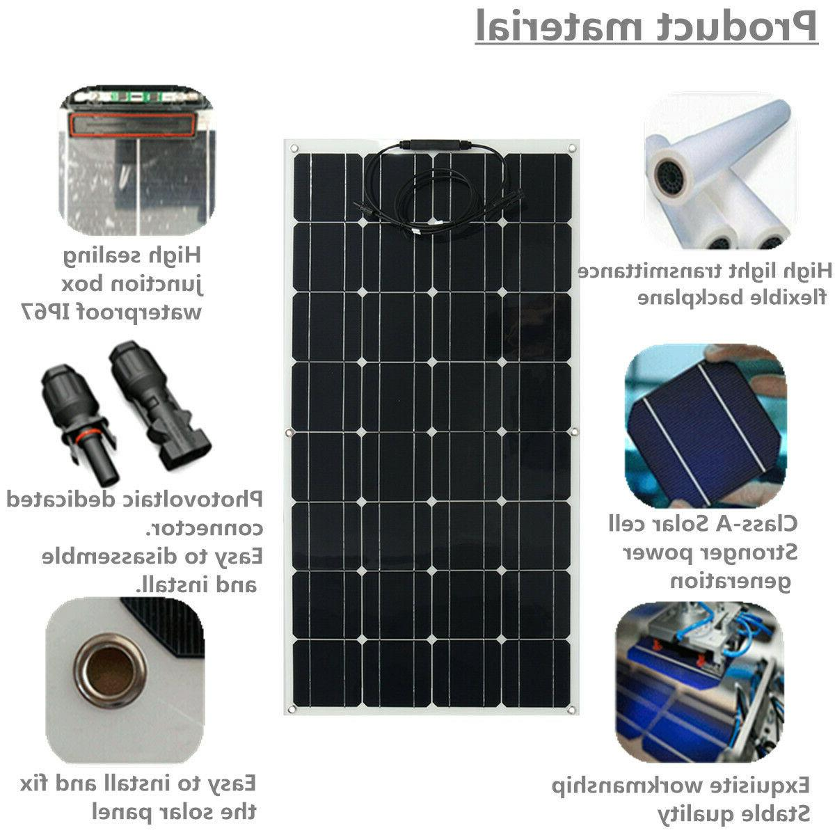 200W Mono Solar Panel Battery Charge For Boat