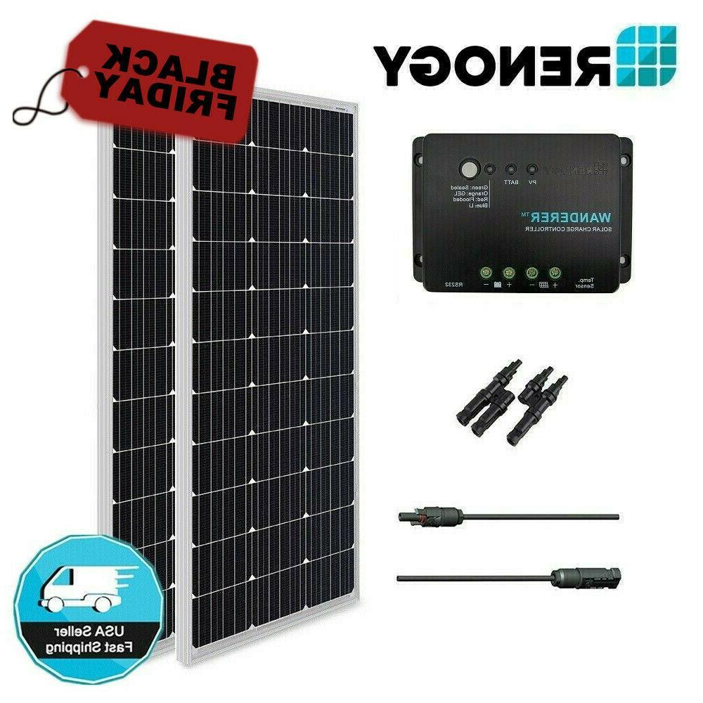 200w 200 watt solar panel 30a controller