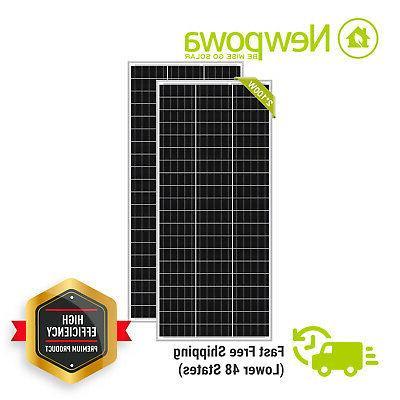 200w 2pcs 100 watt mono crystalline solar