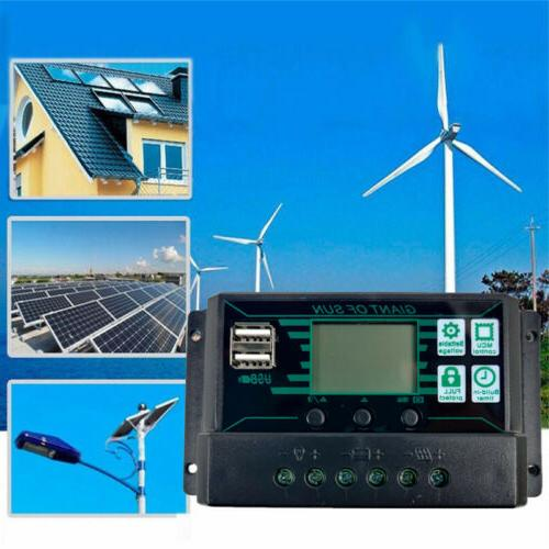 200W Solar Panel 12V Charger 10A-100A with