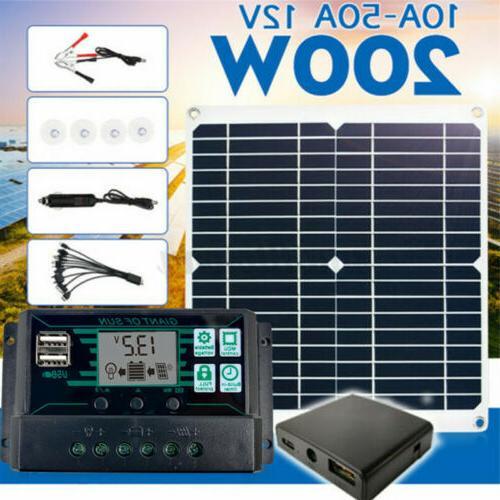 200w solar panel kit 12v battery charger