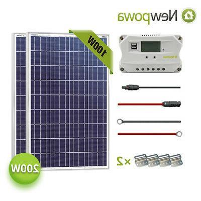 200w watt solar panel 12v system controller
