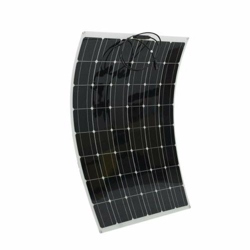 200W 18V Mono Solar Panel Semi-flexible Off 200 Watt Battery RV