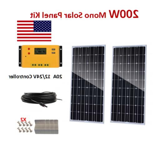 200Watt Panel Mono Kit with Charge Controller off