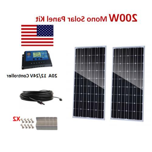 200Watt Solar Mono Kit Charge Controller off Grid