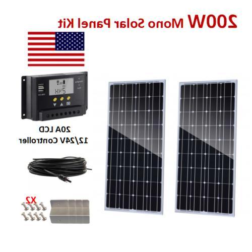 200watt 24v solar panel mono kit