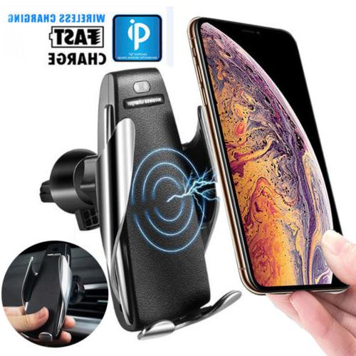 2019 Rotate Clamping Wireless Charger Air Vent Mount Holder R