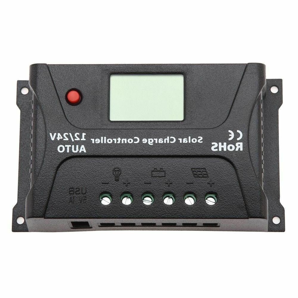 HQST Charge Controller Auto 12V 24V Regulator Display