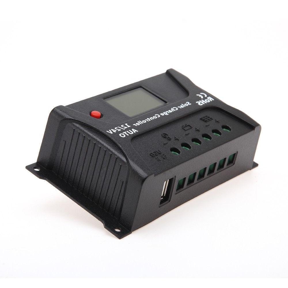 HQST 20A PWM Charge Auto 24V Battery Regulator LCD Display