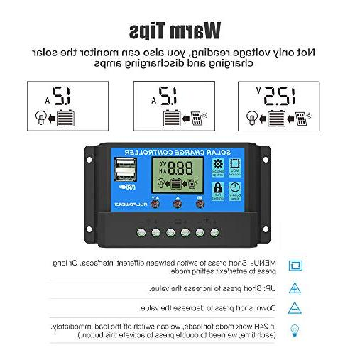 ALLPOWERS 20A Controller Solar Panel Intelligent Port