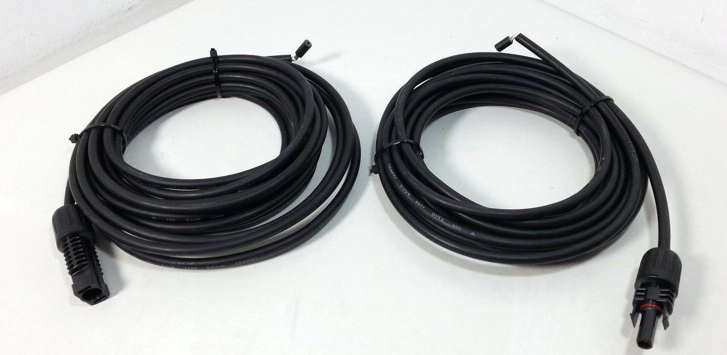 20ft 12awg mc4 solar adaptor cable black