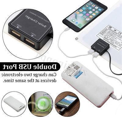 20W 12V/5V Dual DC Solar Kit Phone RV Car