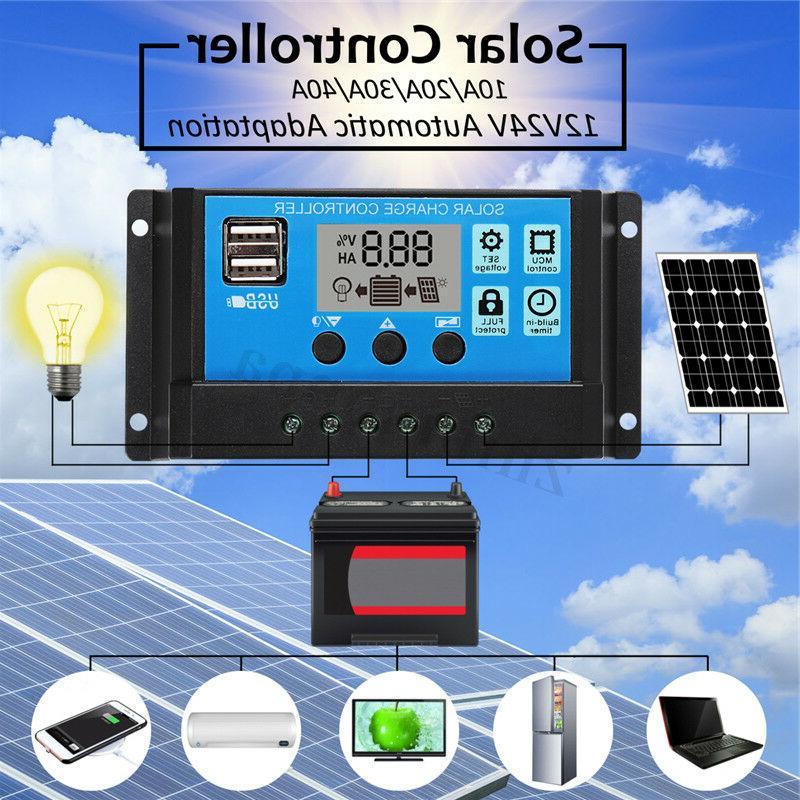 20W USB DC Battery Solar Panel+Controller Kit Set RV Car