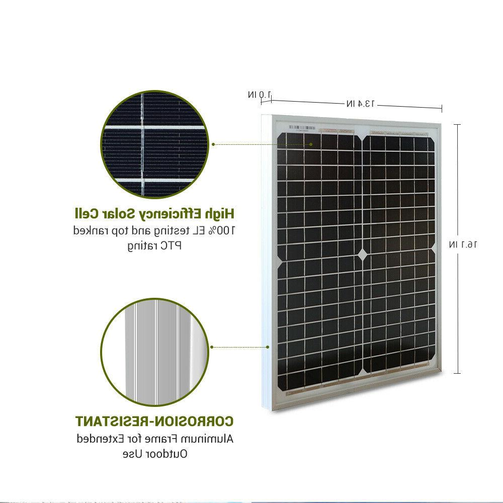 HQST Monocrystalline Solar Panel 20 12 Power Camping