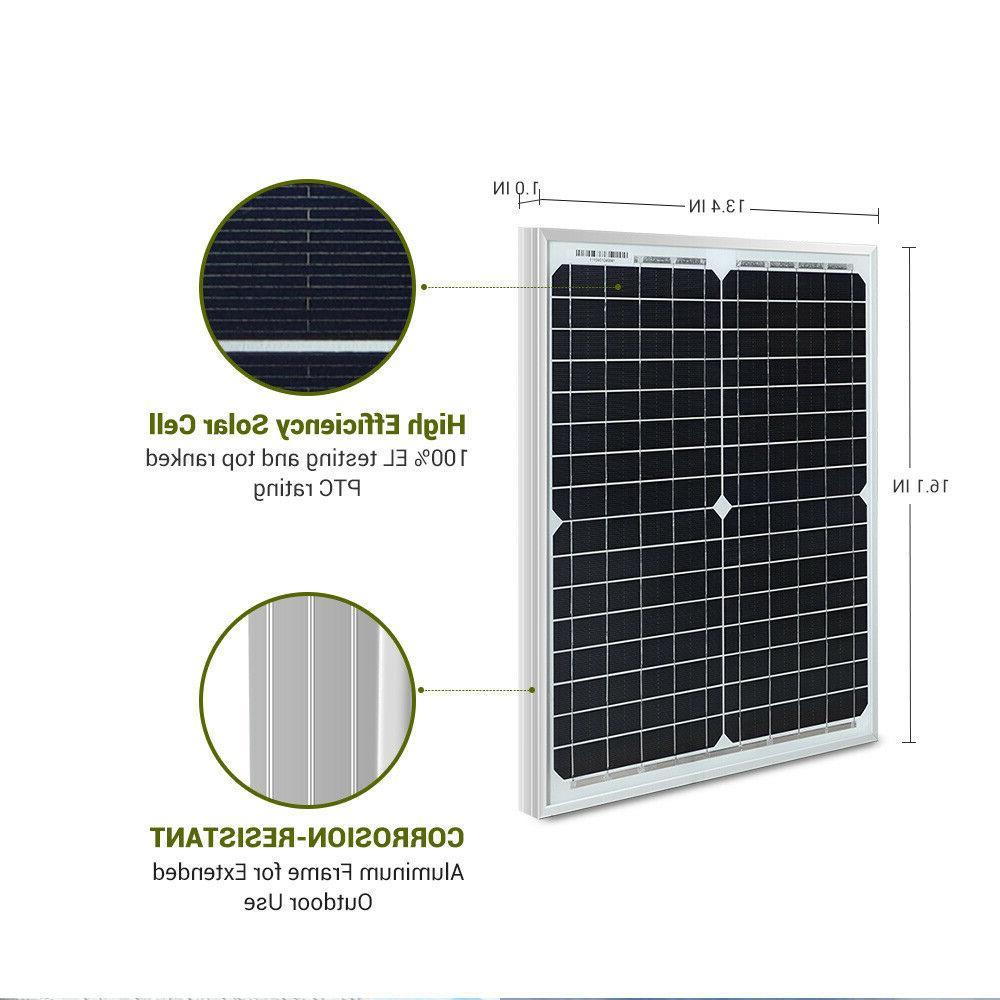 HQST 20W 12V Solar 20 12 Volt Power Camping