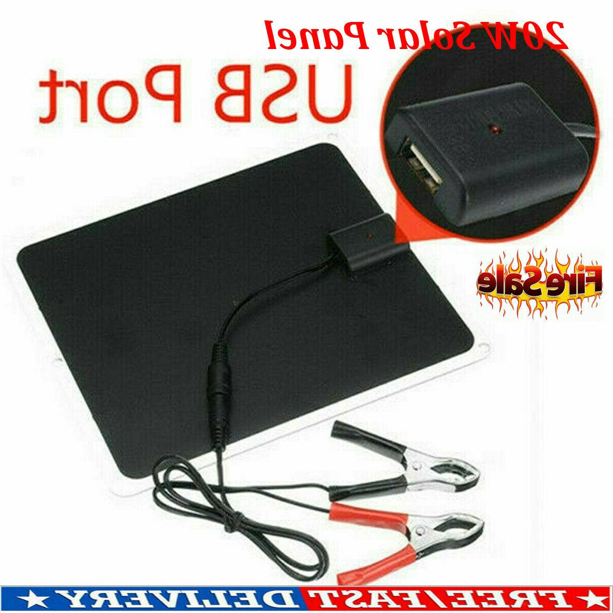 Solar Charge Charger Kit Maintainer RV Car