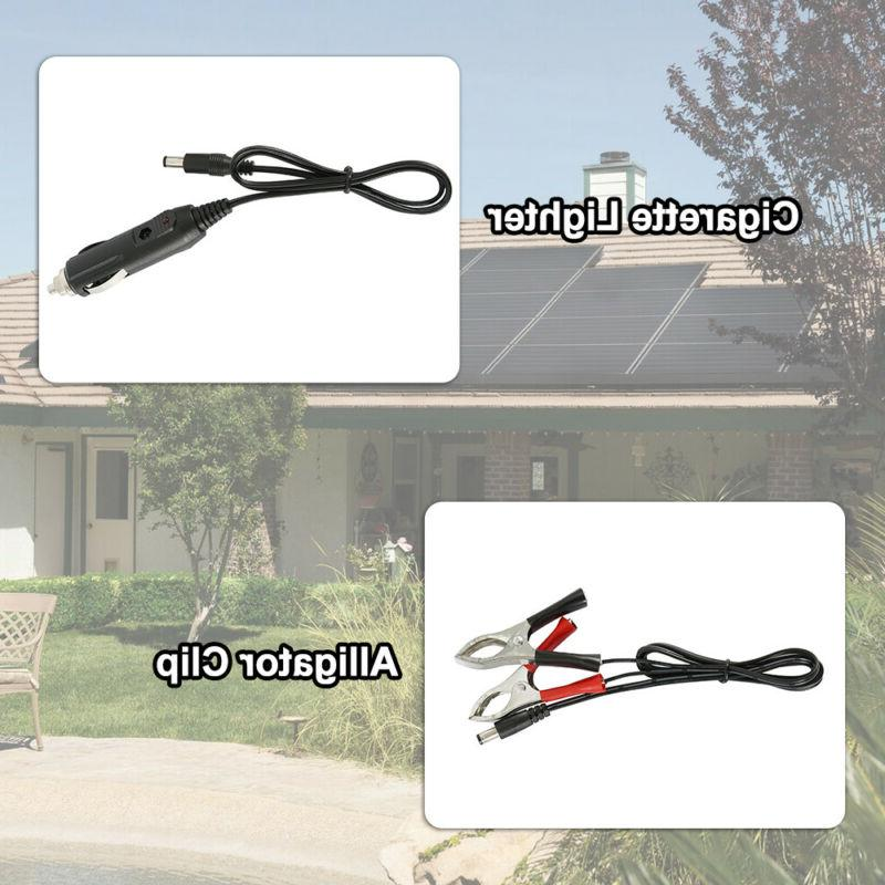 Solar Panel 12V Trickle Charge Battery Maintainer Car