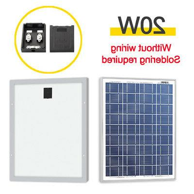 20w 12v poly solar panel module without