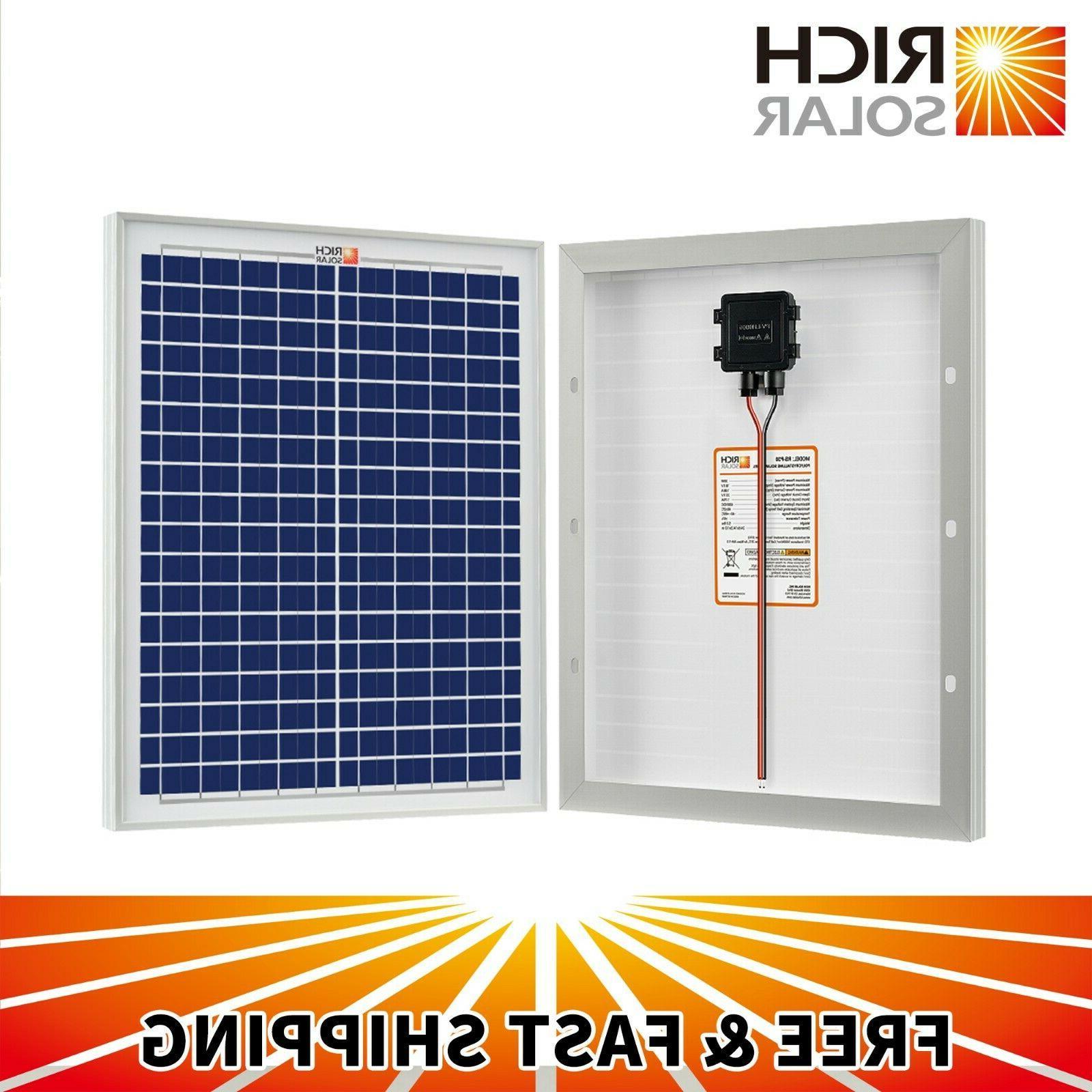 20w 30w 50w 12v polycrystalline solar panel