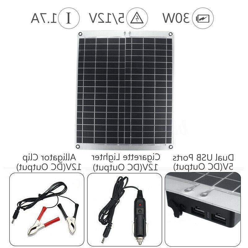 20W-40W Solar Power Panel Battery 50A Controller