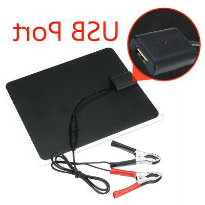20W Solar Dual USB 12V 5V Charger Car