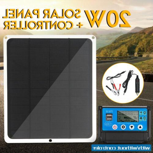 20w solar panel dual usb 12v 5v