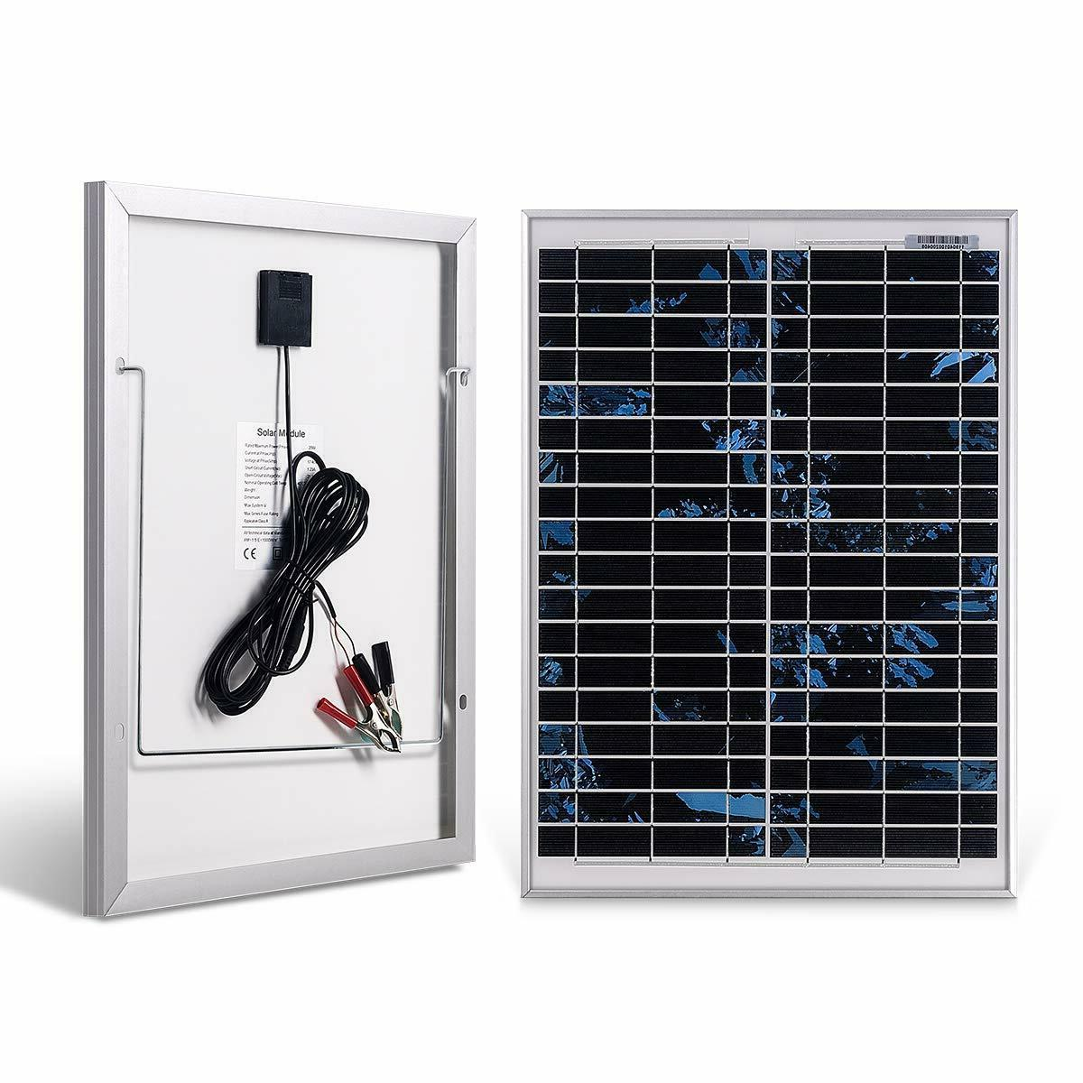 20w solar panel with a 5m crocodile