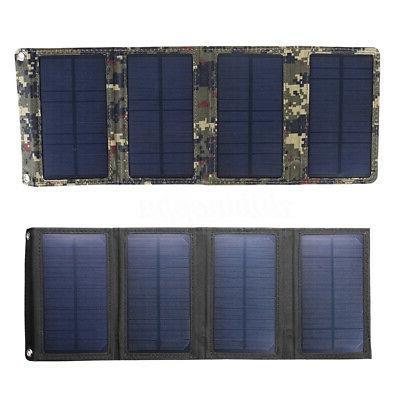 20W USB Solar Panel Folding Camping Hiking