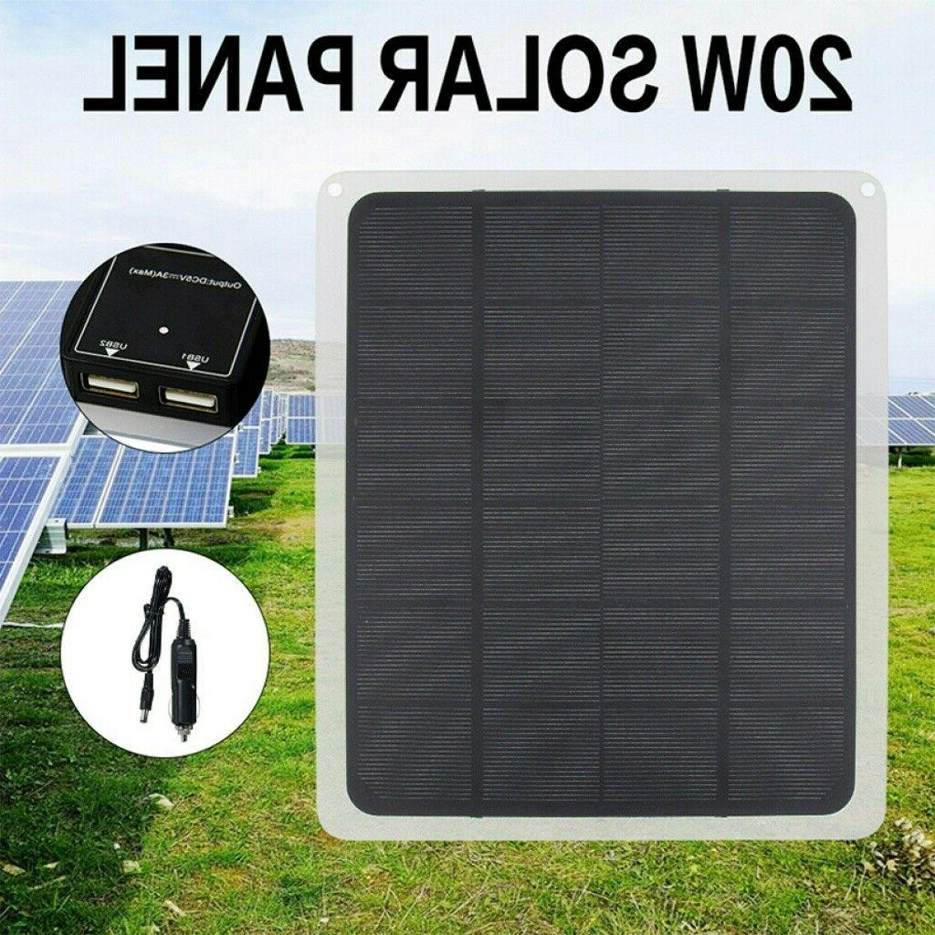 20Watt Solar Panel 12V Charge Charger Battery Maintainer