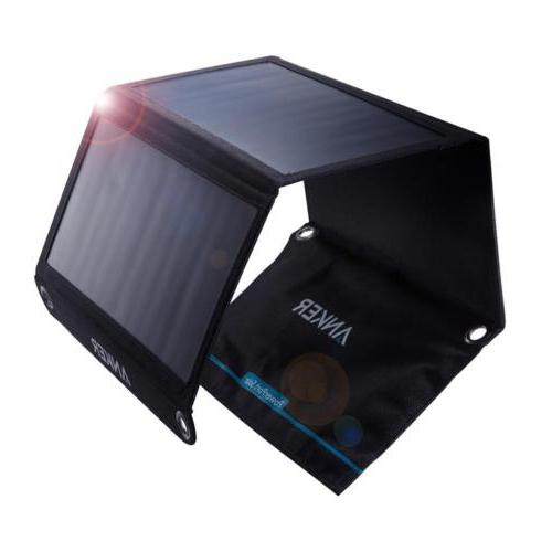 Anker 21W 2-Port USB Solar Charger PowerPort Solar for iPhon