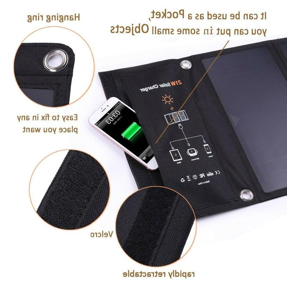 21W Foldable Solar Charger Panel Charger