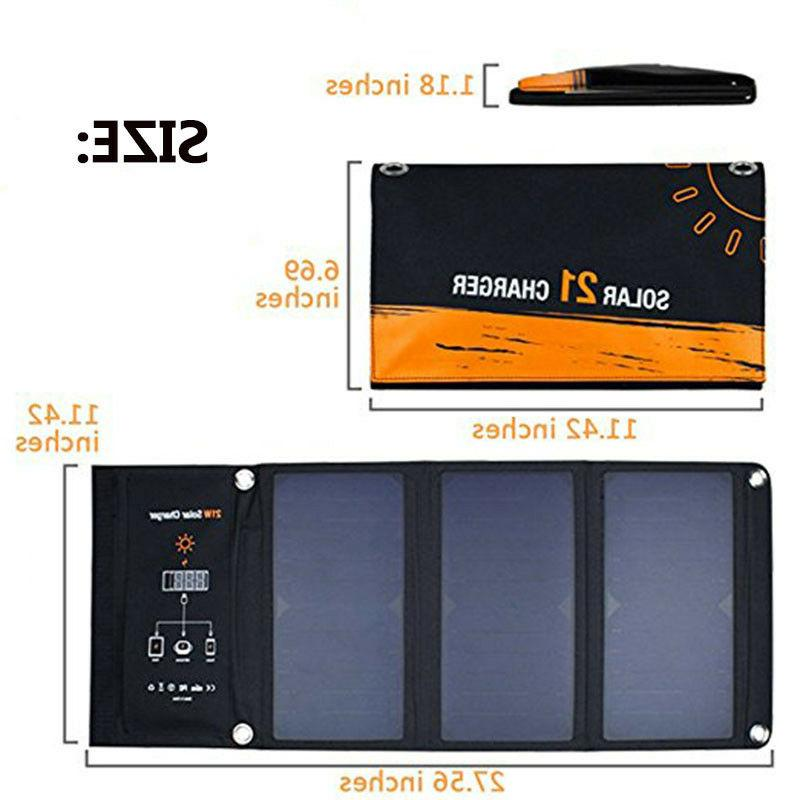 21w foldable solar cells charger backpack solar