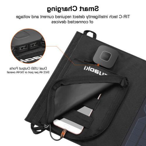 Suaoki Solar Foldable External TIR-C Bank 2 USB