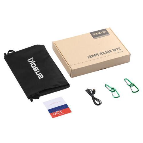 Suaoki 21W Solar Panel Foldable Charger TIR-C Power USB