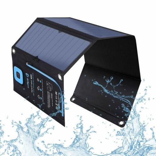 Suaoki 21W USB Solar Panel Kit Portable Foldable For Outdoor
