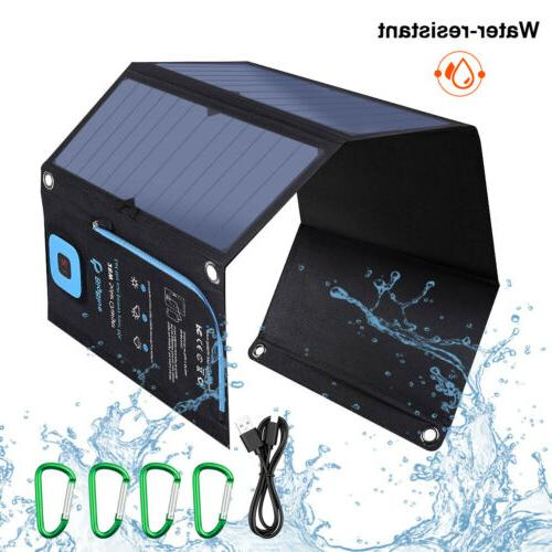 21w solar panel foldable external battery charger