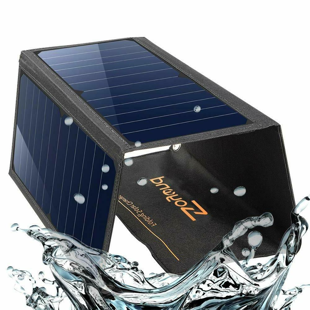 22w foldable solar phone power charger panel