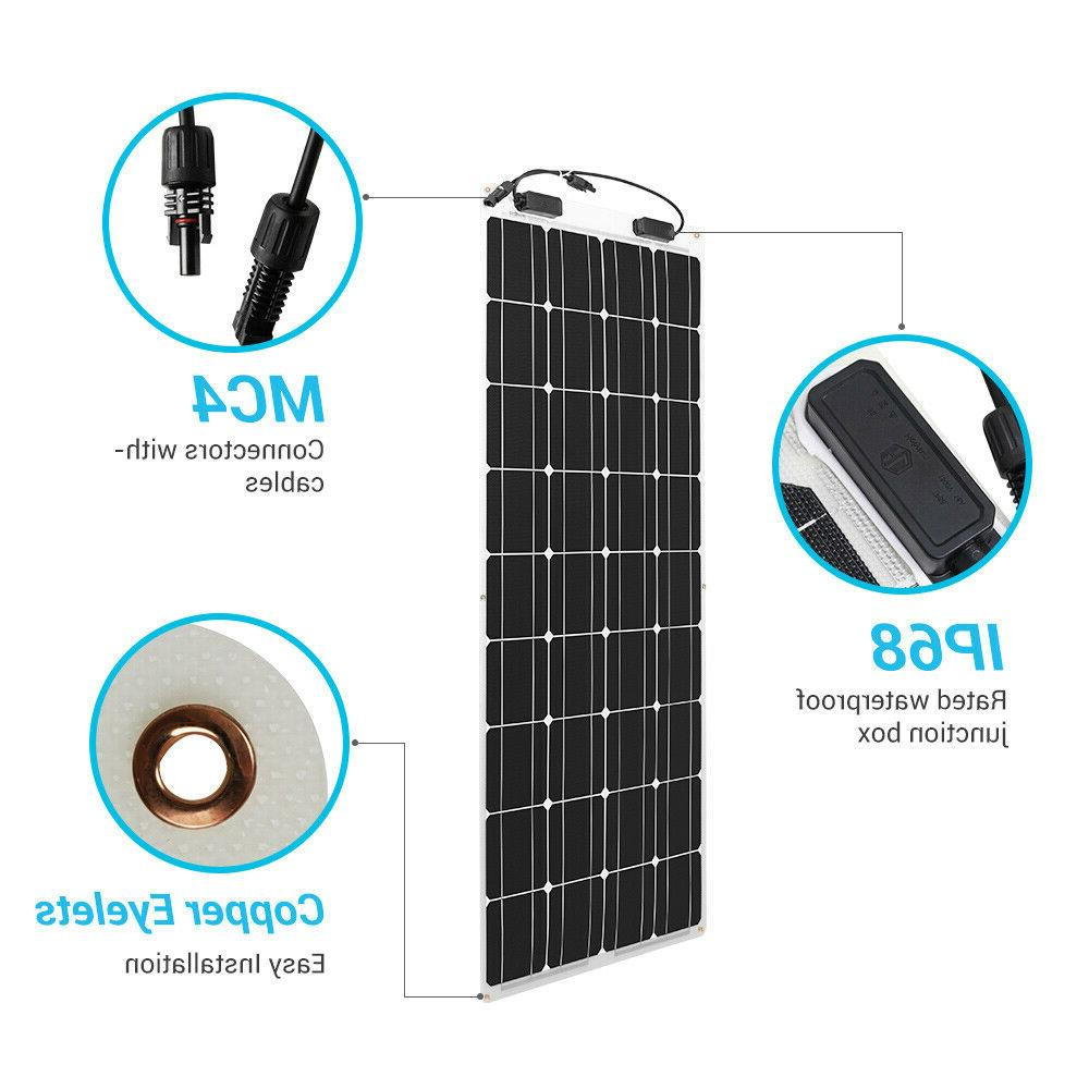 2pcs Renogy 100W 12V Solar Panel Watt Grid