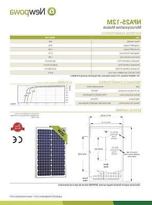 Newpowa 25 12V Solar PWM Controller Battery DC