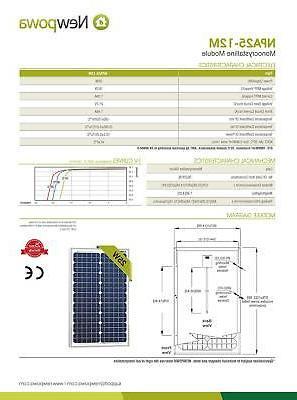 25 12v Solar Module 20W Rv