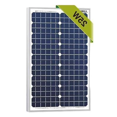 25 watts monocrystalline 12v mono solar panel