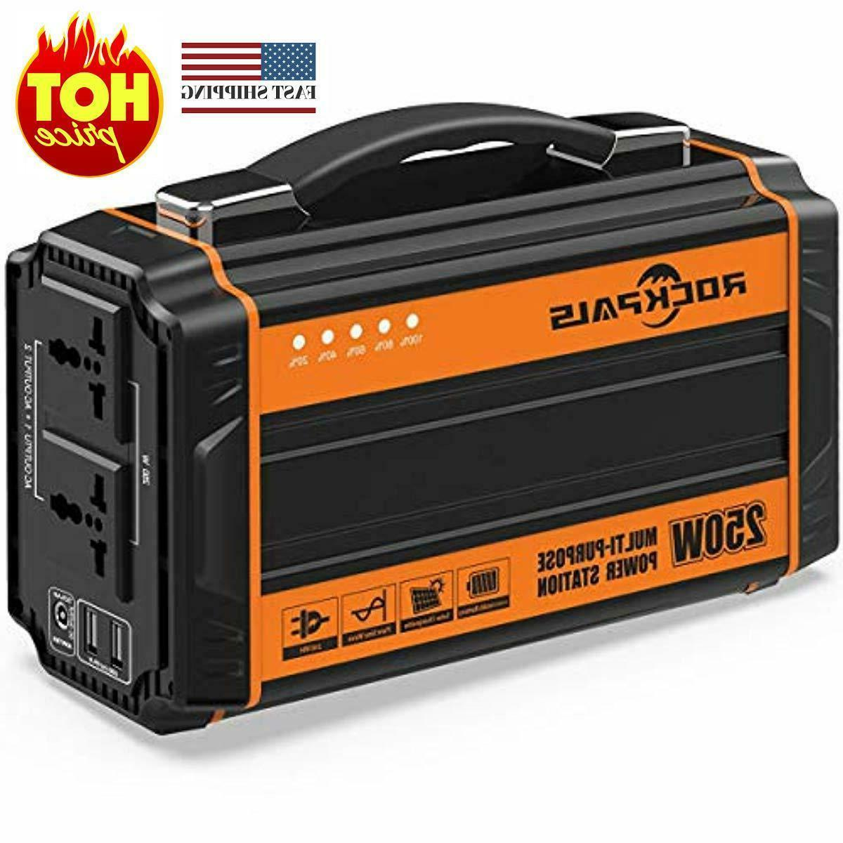 250 watt portable generator rechargeable lithium battery