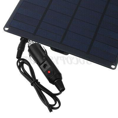 25W 12V 9'' Solar Panel Battery Charger Motorhome Camping