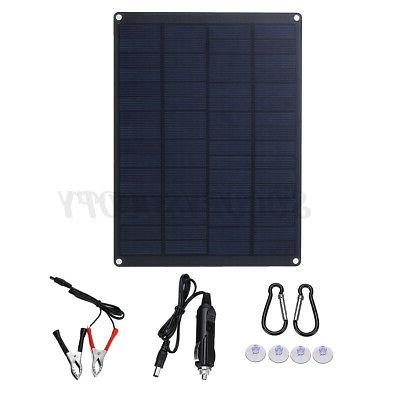 25W 12V Panel USB Charger Motorhome Camping