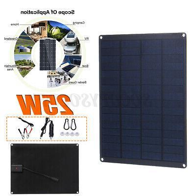 25w 12v 9 solar panel usb port