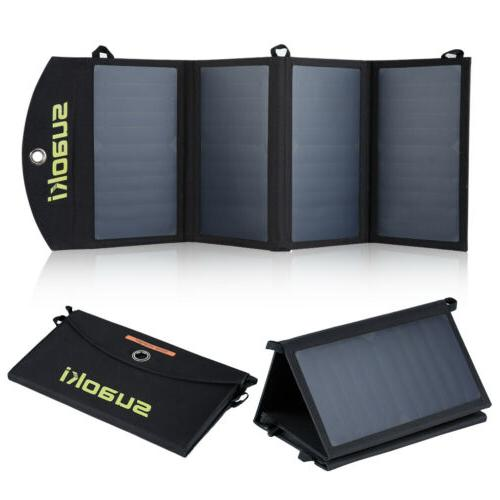 Suaoki 25W Solar Power Bank Panel Charger Folding Alternativ