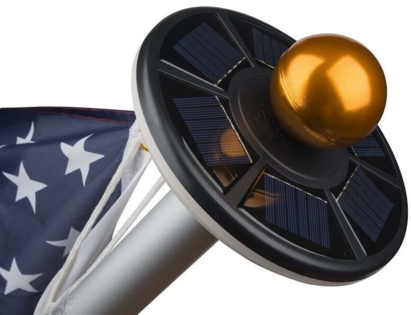 Sunnytech 2Nd Generation Solar Flag Pole 20Led Light,Brighte